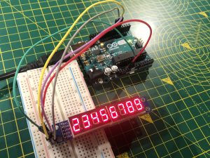 Arduino UNO display MAX7219